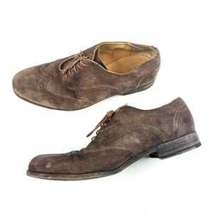 Mens Frye Leather Brown Derby Dress Shoes Size 10½